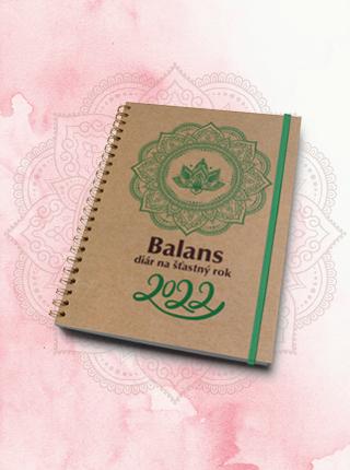 V predaji je Balans diár na šťastný rok 2022. Vychádza na kvalitnom ekologickom papieri