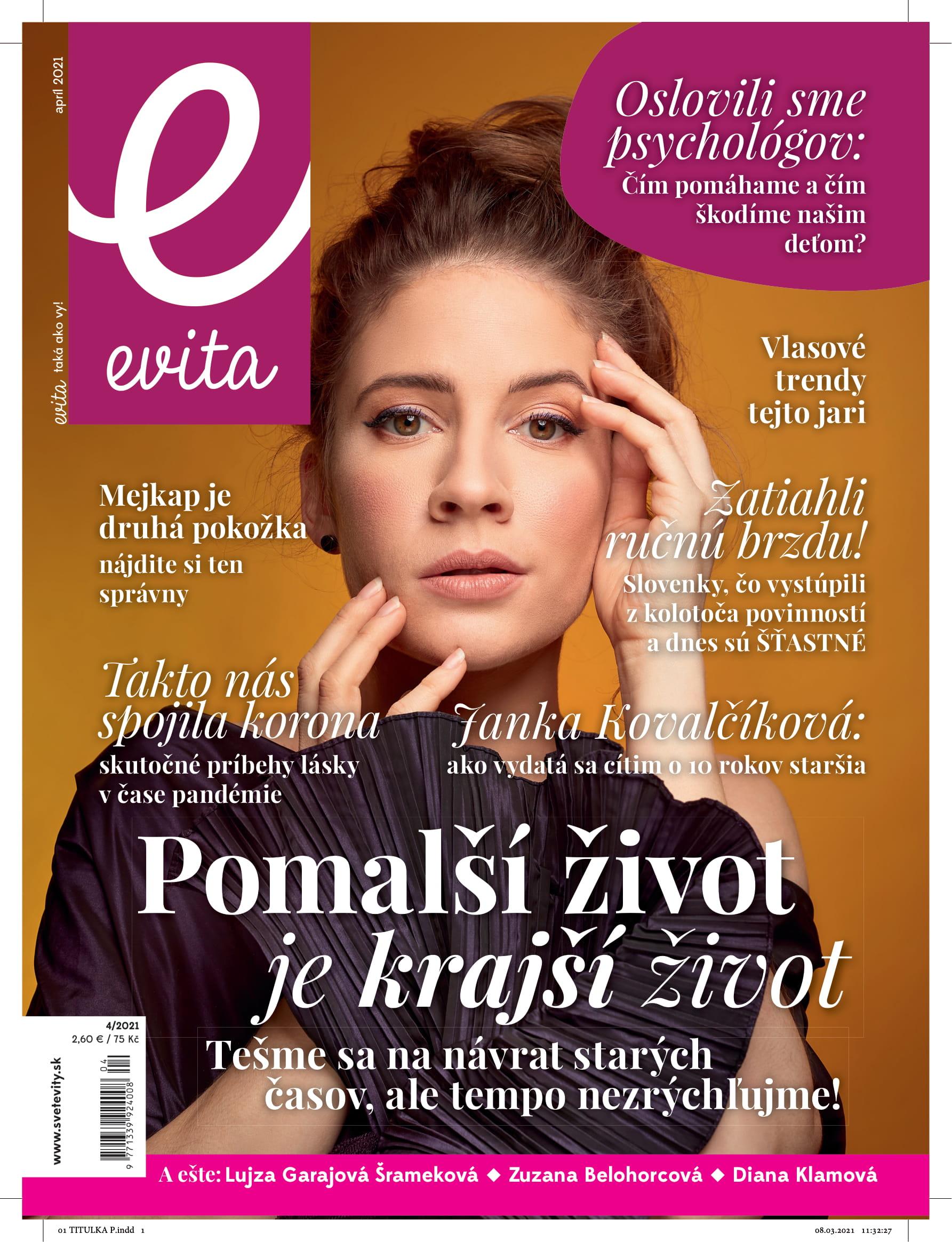 Evita magazín - apríl 2021
